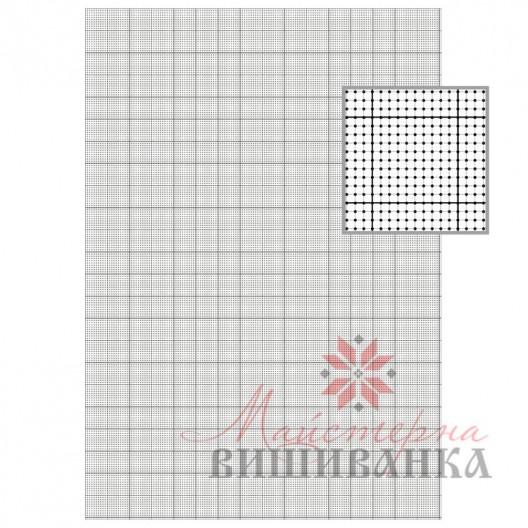 Сітка для вишивання на водорозчинному флізеліні 14