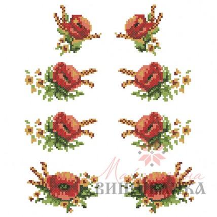 """Схема для вишивання на флізеліні """"Маків цвіт"""""""