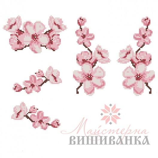"""Схема для вишивання на флізеліні """"Цветіння сакури"""""""
