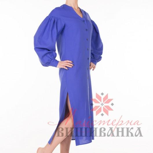 """Сукня під вишивку """"Бажана"""" синя"""