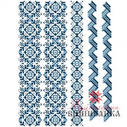 """Схема для вишивання на флізеліні """"Блакитна фантазія"""""""