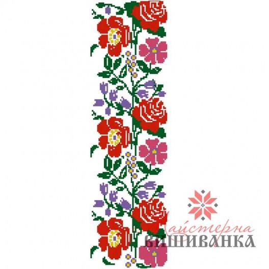 """Схема для вишивання на флізеліні """"Квіткове суцвіття"""""""
