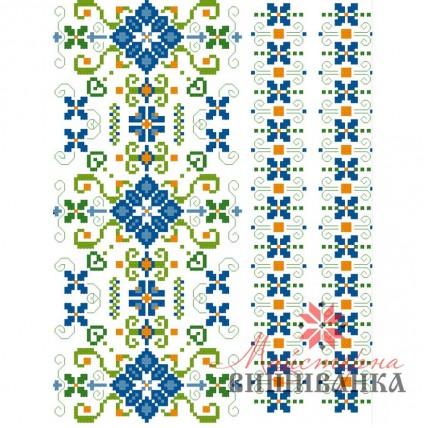 """Схема для вишивання на флізеліні """"Квітковий тандем"""""""