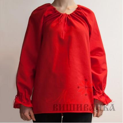 """Сорочка під вишивку """"Барвінок"""" червона розпродаж"""