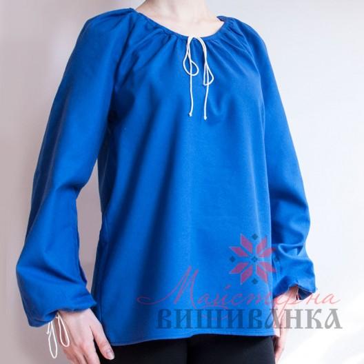"""Сорочка під вишивку """"Традиційна"""" синя"""
