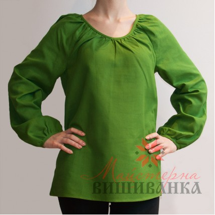 """Сорочка під вишивку """"Традиційна"""" зелена"""