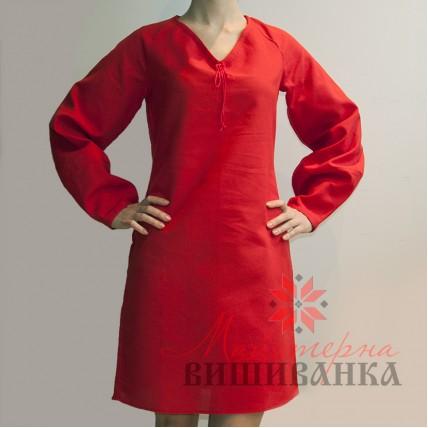 """Сукня під вишивку """"Колорит"""" червона"""
