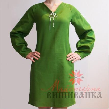 """Сукня під вишивку """"Колорит"""" зелена"""