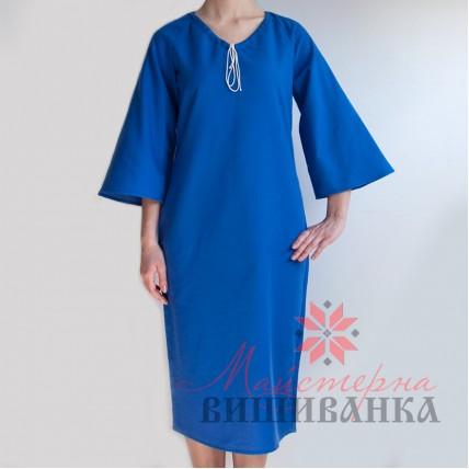 """Сукня під вишивку """"Україночка"""" синя"""