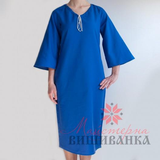 """Сукня під вишивку """"Україночка"""" синя розпродаж"""