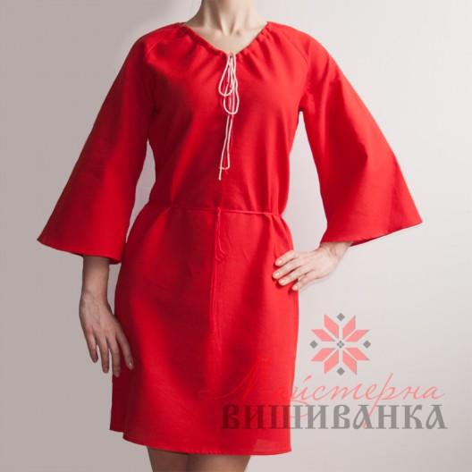"""Сукня під вишивку """"Україночка"""" червона"""