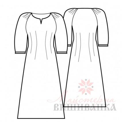 """Викрійка жіночої сукні вишиванки """"Конвалія"""""""