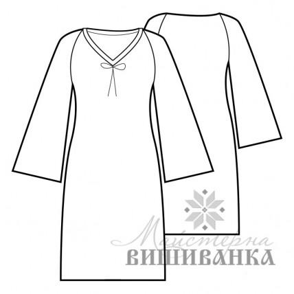 """Викрійка жіночої сукні вишиванки """"Україночка"""""""