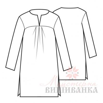 """Викрійка жіночої сукні вишиванки """"Ленок"""""""