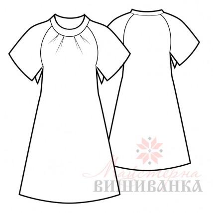 """Викрійка жіночої сукні вишиванки """"Мрія"""""""