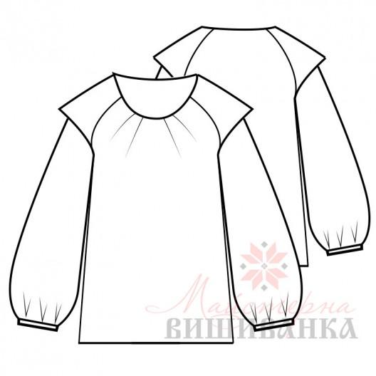 """Викрійка жіночої сорочки вишиванки """"Надія"""""""