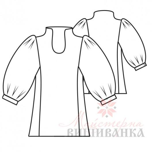 """Викрійка жіночої сорочки вишиванки """"Полька"""""""