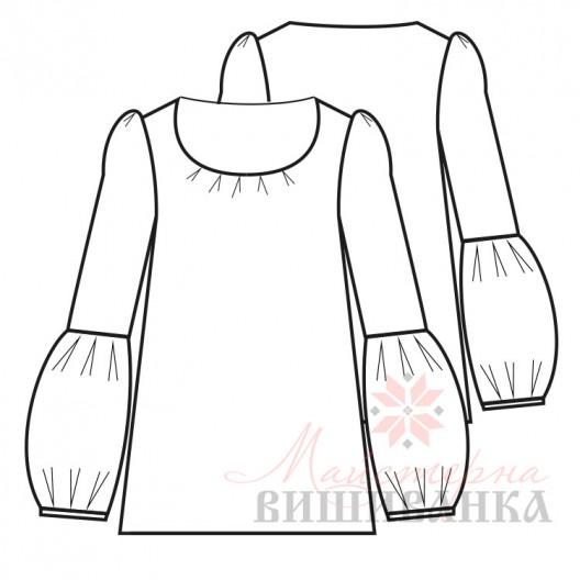 """Викрійка жіночої сорочки вишиванки """"Світанок"""""""