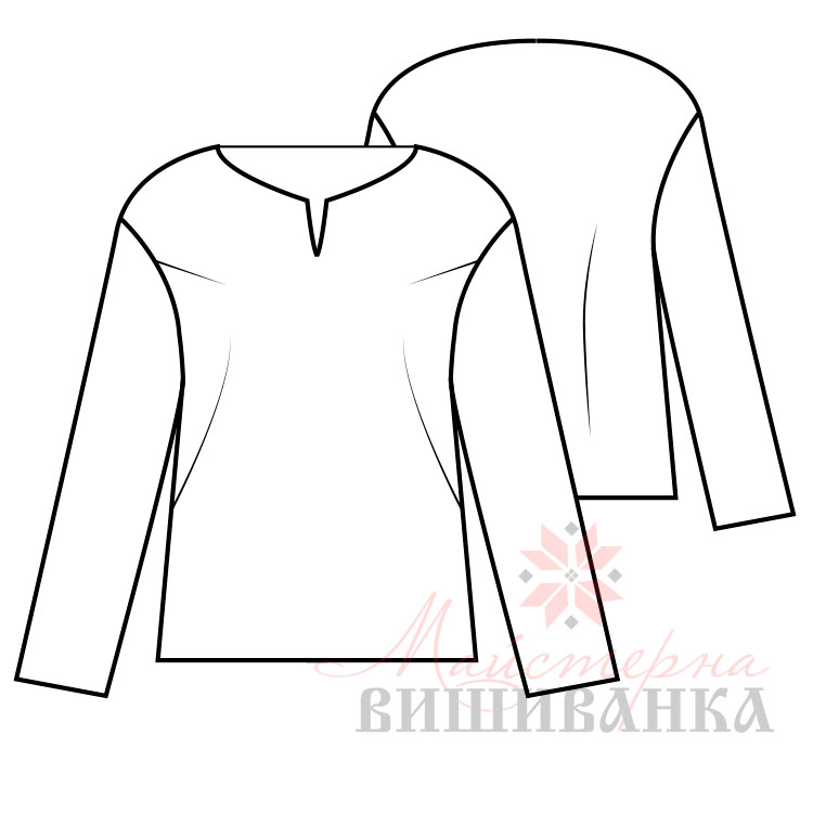 8a41b9a2a661f1 Викрійка жіночої вишиванки